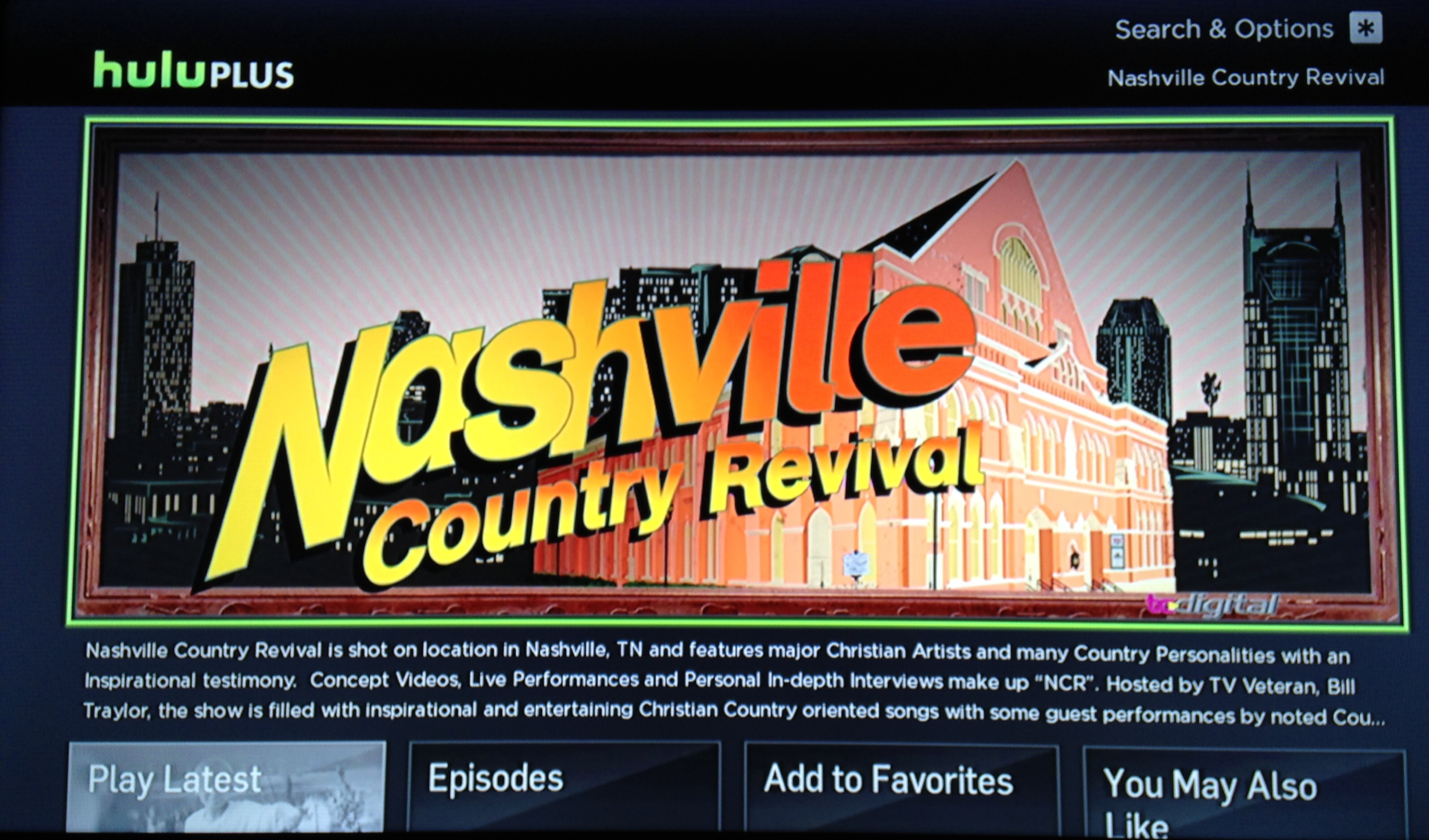 Nashville Country Revival now on Hulu