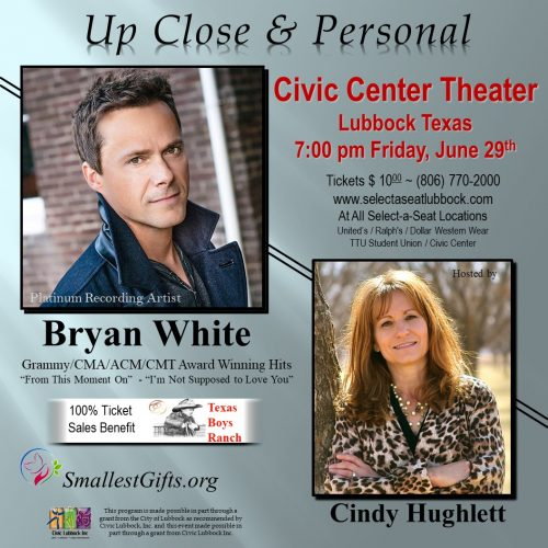 Cindy Hughlett To Hosts Her 6th Benefit Concert Series With Bryan White