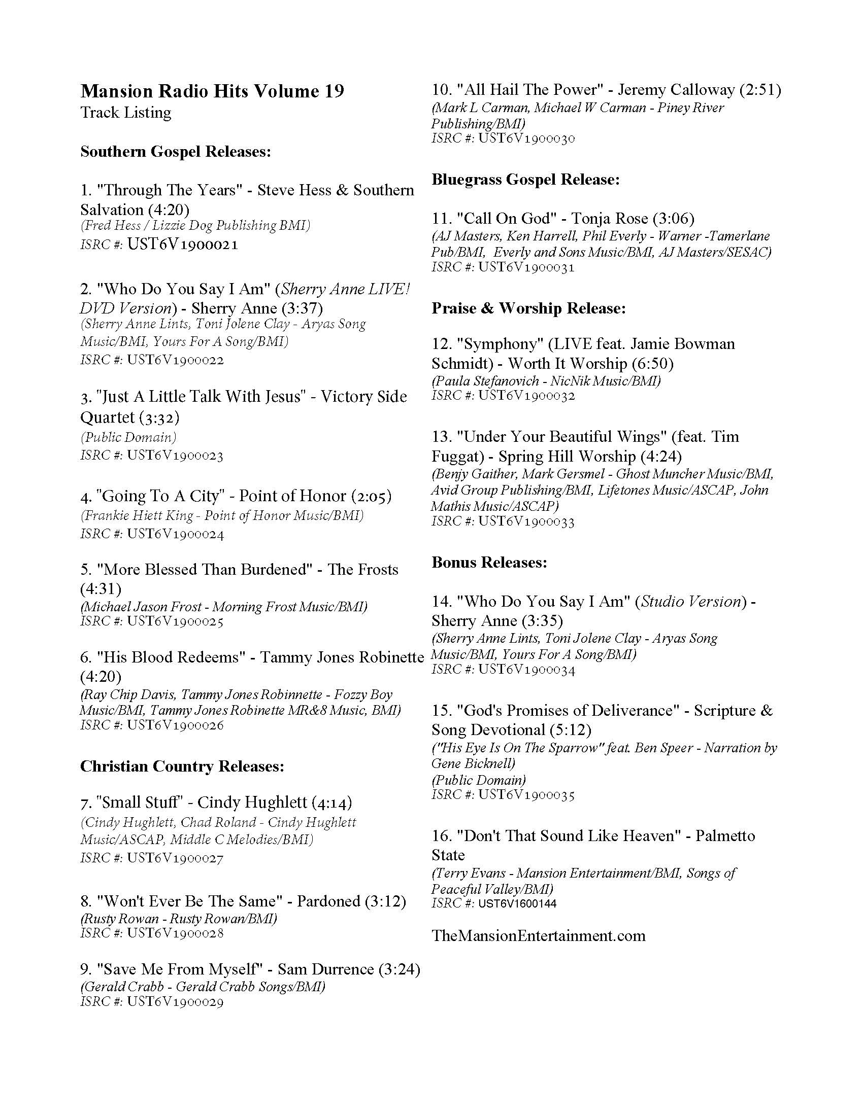 radio tracking sheet, cue sheet, christian radio, christian music, southern gospel radio, bluegrass gospel radio, singing news top 80, christian country music, cashbox country christian chart, praise and worship, praise chart, top 100, worship music, ccm, contemporary christian