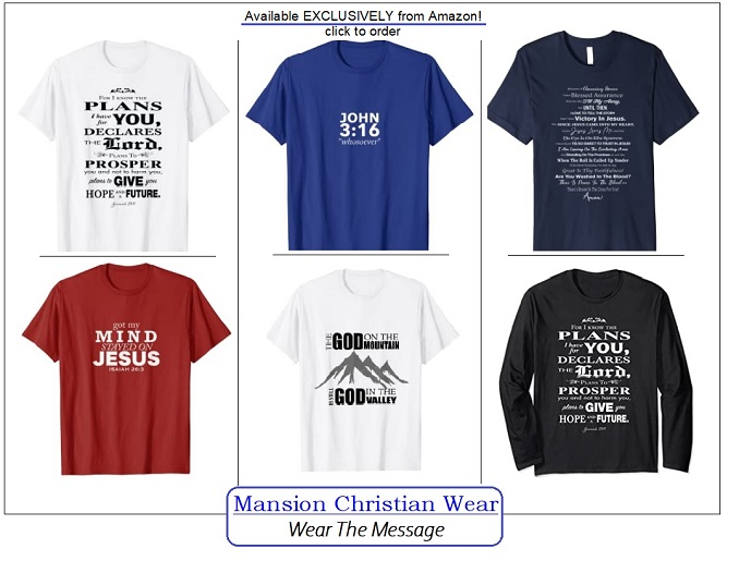 Christian t-shirts, witness wear, God On The Mountain